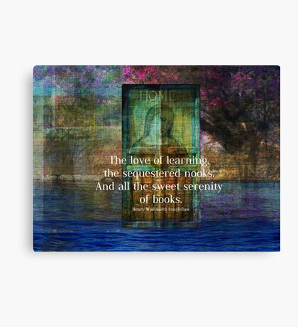 Book literary reading quote Canvas Print
