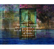 Book literary reading quote Photographic Print