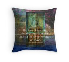 Book literary reading quote Throw Pillow
