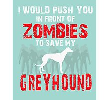 Front Of Zombies Greyhound Photographic Print
