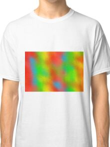 colorful painting abstract background  Classic T-Shirt