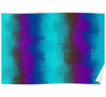 blue green purple brown and pink painting Poster
