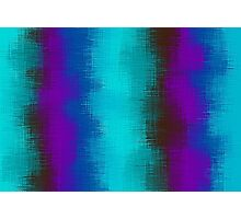 blue green purple brown and pink painting Photographic Print