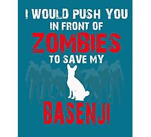 Front Of Zombies Basenji Photographic Print
