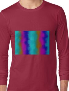green blue pink purple and brown painting  Long Sleeve T-Shirt