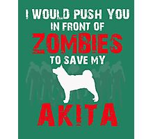 Front Of Zombies Akitas Photographic Print