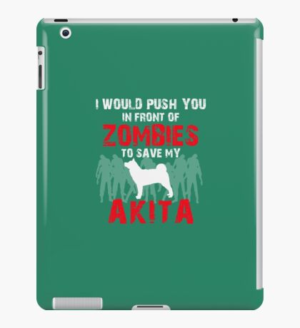 Front Of Zombies Akitas iPad Case/Skin