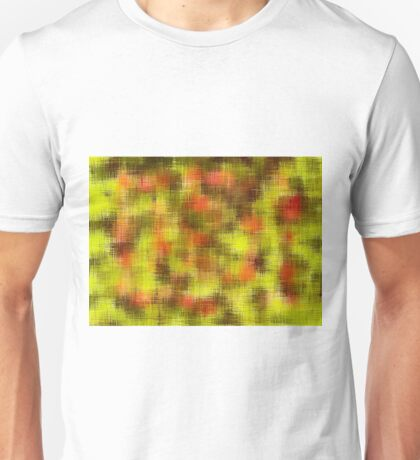 yellow orange and black painting Unisex T-Shirt