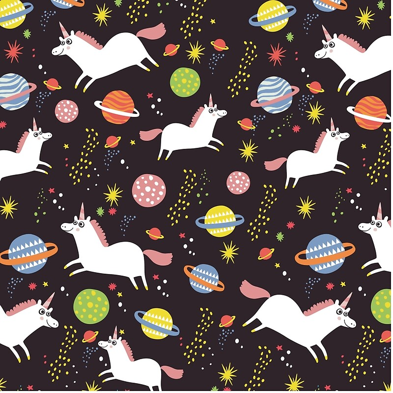 Space unicorns tote bags by solarlullaby redbubble for Space unicorn fabric