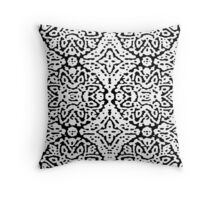 Black and White Puff Paint Throw Pillow