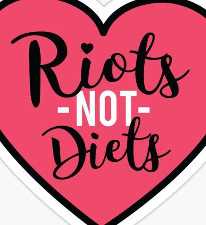 Riots not diets feminist tee or sticker Sticker