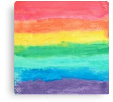 Colorful Watercolors Color Rainbow Craft Paper Texture Canvas Print
