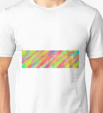 pink green blue and yellow painting Unisex T-Shirt