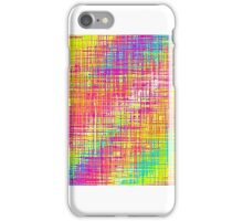pink green blue and yellow painting iPhone Case/Skin