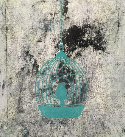 Turquoise birdcage Sticker