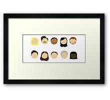 Parks & Rec Cast Framed Print