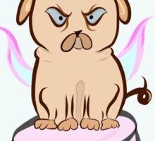 Martian Unipug ~ Marshmallow Unicorn Pug Cute Dog Sticker