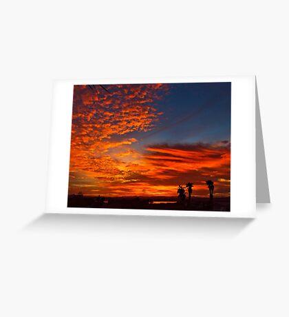 November Sunset Greeting Card