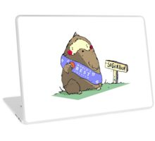 Sassy Exsassperated Sassquatch in a Sassh Eating Sasstsumas in Sasskatoon. Laptop Skin