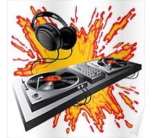 DJ control panel Poster