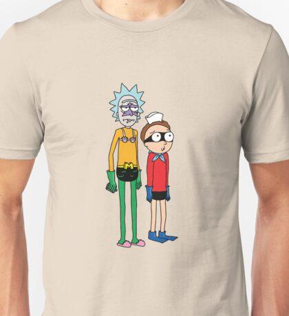 Mermaid Rick and Barnacle Morty Unisex T-Shirt