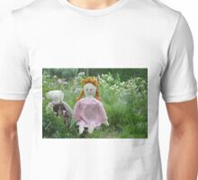 Margret and Rabbit Rag Doll #1 Unisex T-Shirt