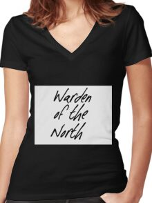 Warden of the North Women's Fitted V-Neck T-Shirt