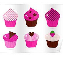 Enjoy fresh Cupcakes. Minimal design, french look Poster