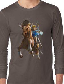 Link On Horse Dark Long Sleeve T-Shirt