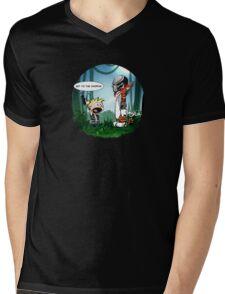 Get to The CHOPPA!!! Mens V-Neck T-Shirt
