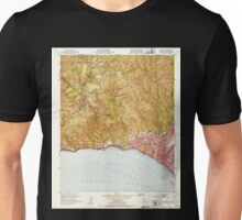 USGS TOPO Map California CA Topanga 300896 1952 24000 geo Unisex T-Shirt