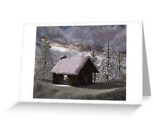 Winter Cabin 2 Greeting Card