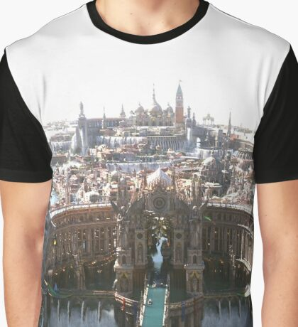 Final Fantasy City Graphic T-Shirt