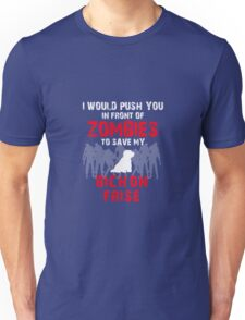 Front Of Zombies Bichon Frise Unisex T-Shirt