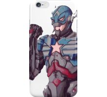 Ultron cross Captain America - Colour iPhone Case/Skin