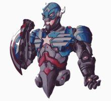 Ultron cross Captain America - Colour by Sam Johnson