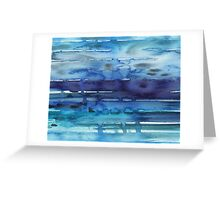 Watercolor Abstract Seascape Greeting Card