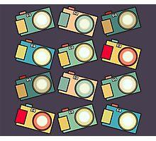 Retro Camera Pattern B-Side Photographic Print