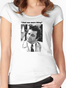 "Columbo - ""Just one more thing"" Women's Fitted Scoop T-Shirt"