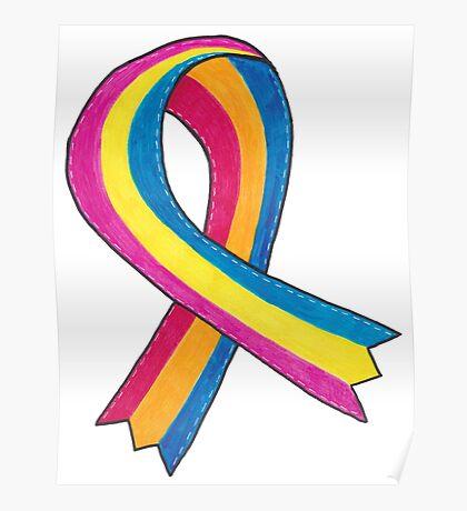 Pansexual Awareness Ribbon Poster