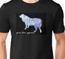 Peace Love Pyrenees - Blue Unisex T-Shirt