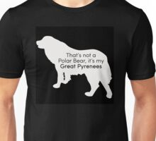 Polar Bear Pyrenees - white on black Unisex T-Shirt