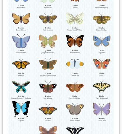 Butterfly Alphabet Sticker