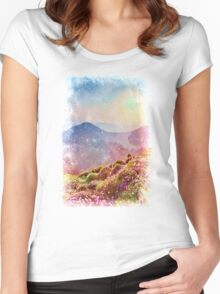 Summer mountains Women's Fitted Scoop T-Shirt