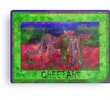 Colorful Cheetahs Metal Print