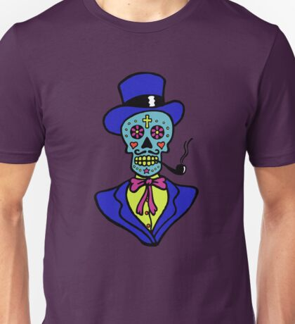 Pipe smoking Calavera Unisex T-Shirt