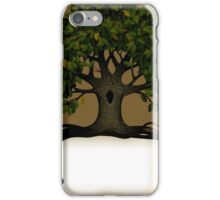 Banner with a tree iPhone Case/Skin