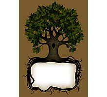 Banner with a tree Photographic Print