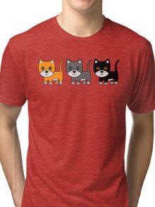 Ginger, Grey & Black Tri-blend T-Shirt