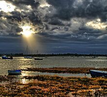 Sunset over Aldeburgh, Suffolk by closetpainter